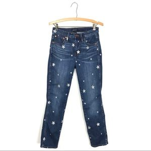 J.Crew Vintage Straight Jeans in Star Print 26 A1